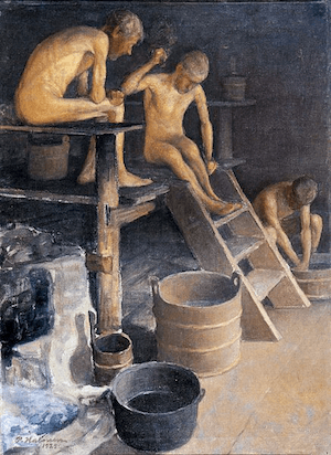 Sauna Art: Pekka Halonen-Saunassa