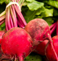 red organic beets