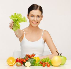 woman, vegan diet