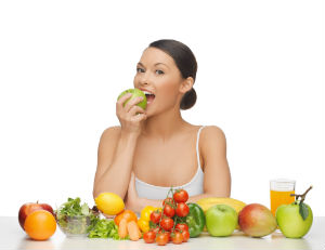 woman raw vegan diet