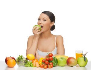 woman raw vegan diet