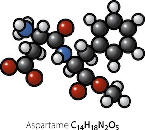 Chemical structure of Aspartame