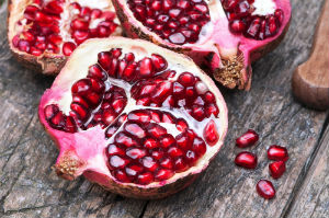 pomegranates-on-a-table