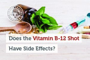 A bottle of b-12. While the b-12 shot addresses B-12 deficiency, it may also be prescribed to boost energy and much more.
