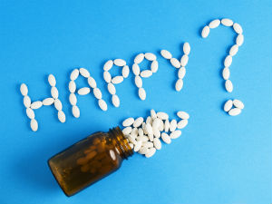 happy-antidepressants-blue-background