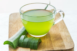 Aloe vera juice is an easy way to enjoy it