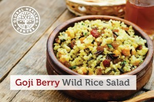 This easy-to-make goji berry wild rice salad recipe is a delicious treat that features all the nutritional benefits of the superfood, goji berries.