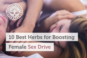 A man and a woman lying in bed. Herbs like ashwagandha root, maca root, and muira puama help support the female sex drive.