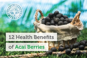 A bucket full of organic acai berries.
