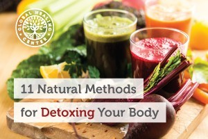 A glass of beet juice and a leafy green juice. Juice fasts are one of many natural cleansing methods for detoxing your body.