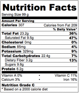 Vegan Raspberry Vanilla Cashew Cream Nutrition Facts
