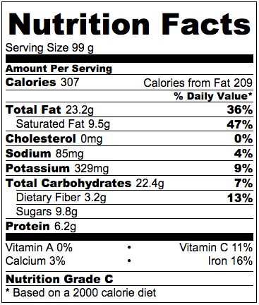 Vegan Raspberry Vanilla Cashew Cream Nutrition Facts