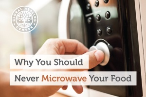 A person using a microwave for their food. Microwaves affect proteins, antioxidants, and the overall nutrient content of food.