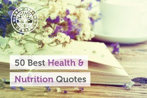 A purple and white dandelion on top of an open book. Global Healing Center's List of Top 50 health and Nutrition Quotes.