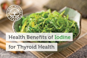 A bowl of organic seaweed salad. Eating plant and sea-based foods is great for thyroid health because it contains iodine.