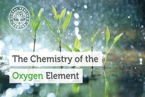 Rain falling on grass. Oxygen is a gaseous, non-metallic element that makes life possible and that oxygen is critical to lifeform.