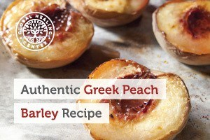 A fresh batch of Greek peach barley. This Mediterranean barley recipe is loaded with key nutrients.