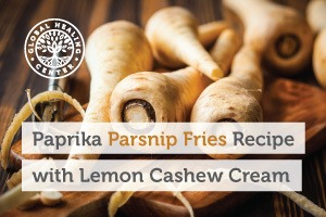 A pile of parsnips on a table. This paprika parsnip fries recipe is loaded with antioxidants and other healthy nutrients.
