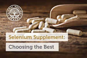 Selenium supplements on a wooden table. Selenium can come in several different forms and not all produce the same results.