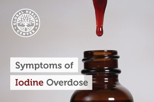 A bottle of iodine. Iodine overdose can be a serious health issue. It can result in severe damage to the central system.