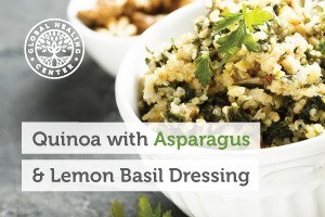 This delicious quinoa salad is as nutritious as it is tasty. You'll love this nutrient-packed quinoa salad with tangy lemon basil dressing.