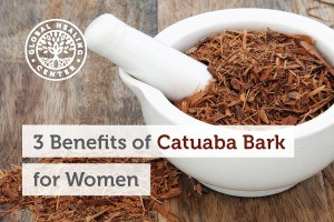 A bowl of catuaba bark. Studies show numerous beneficial qualities related to catuaba, especially for women.