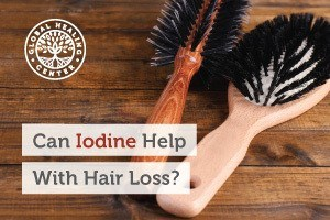 Two hair combs on a table. To avoid hair loss, try to fuse iodine into your diet. Iodine helps with hair strength and growth.