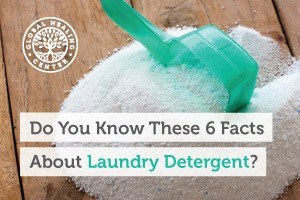 A pile of laundry detergent. Detergents contain chemicals that can add to skin irritation and disrupt the endocrine function.