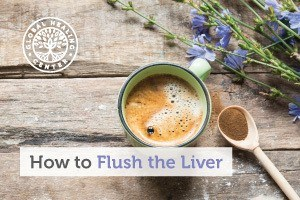 A cup of tea. To do a liver flush, try to consume organics foods and supplements. Process foods are harmful to the body.