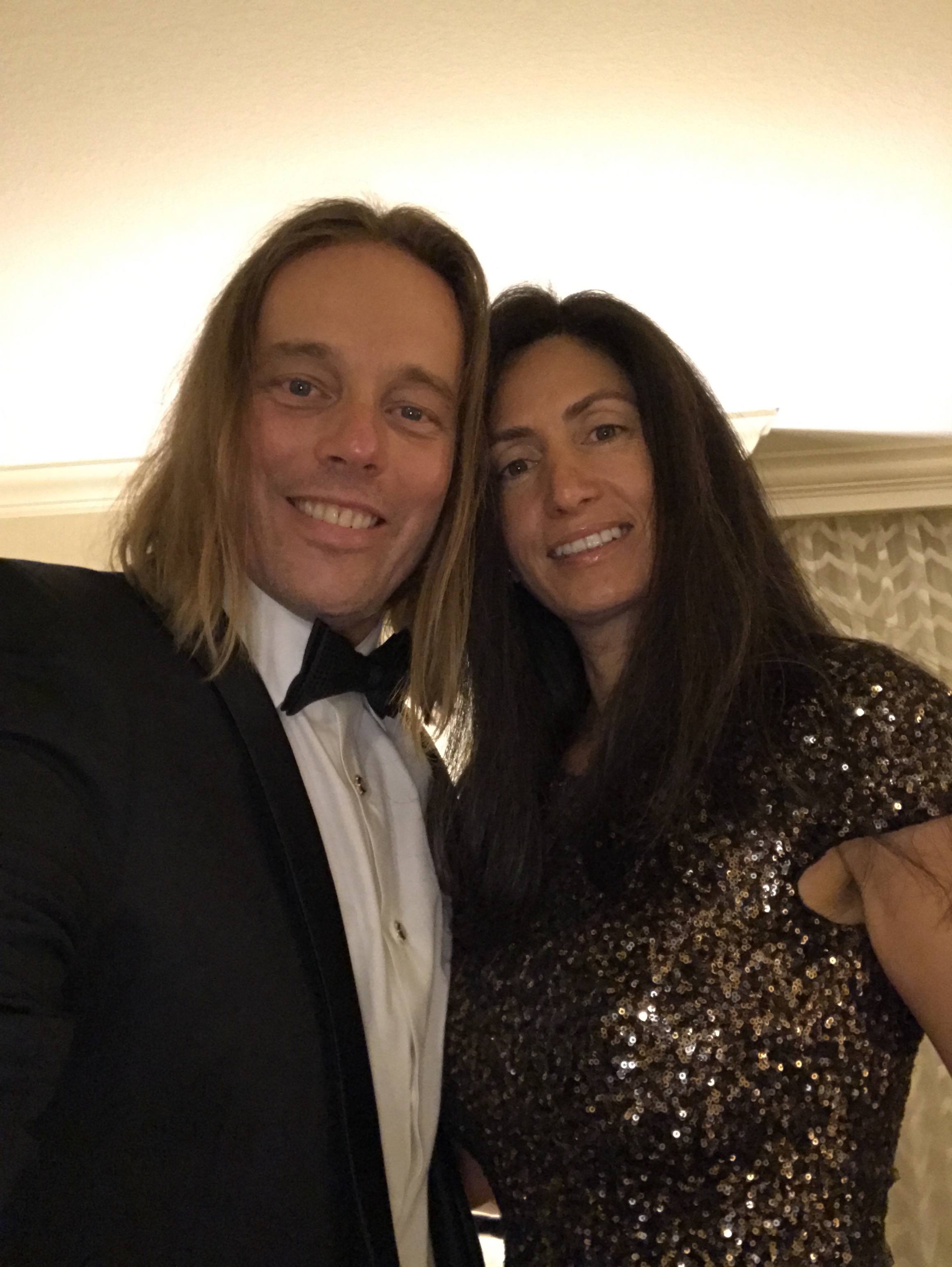 Dr. Edward Group III with his wife Dr. Daniela Group before The Truth About Cancer Symposium Gala.