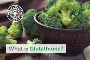 A bowl of broccoli. Glutathione purpose is to protect cells from oxidative stress and damage, mainly via its antioxidant properties.