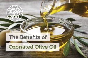 A bowl of organic olive oil. It acts as an antioxidant, allowing lactic acid and toxins to be released from the pores of the skin.