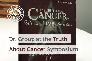 Dr. Edward Group received a Distinguished Presenter award at the Truth About Cancer Symposium.