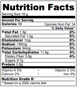 Vegan chocolate chip cookie nutrition facts.