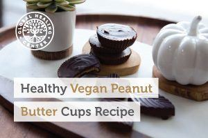 Vegan peanut butter cups on display. Try this delicious and healthier peanut butter cups recipe this Halloween.