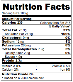 Vegan probiotic yogurt nutrition facts.