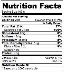 Vegan probiotic yogurt nutrition facts.
