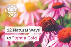 A field of flowers. Taking vitamin C, turmeric, exercising, and laughter are great natural ways to fight a cold.