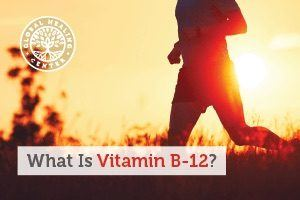 An individual running through the field. Your body doesn't make vitamin B-12, you can get it from supplementation or diet.