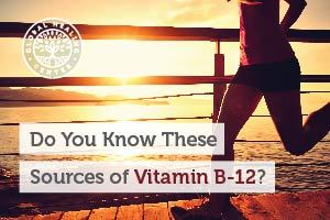 A woman is running on a pier. There are several sources of Vitamins B12 such as foods, supplements, and B12 shots.