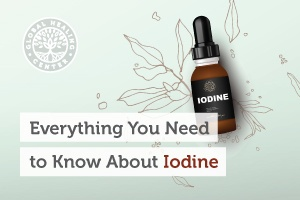 A bottle of iodine. Iodine plays a vital role in our body because it helps support the thyroid gland and the hormone levels.