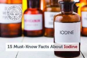 A bottle of iodine. Iodine is an essential element that helps support thyroid health and help fight harmful organism.