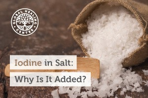 A bag of iodine salt. Salt found in nature is not usually white it is pink in color such as Himalayan Crystal salt.