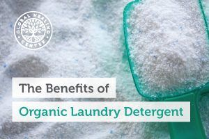 Organic laundry detergent. Organic laundry detergent does not contain toxic chemicals like chlorine and other additives.