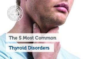 A person is holding their throat. Thyroid disorders affect about of 20 million Americans and 80% of incidences affect women.