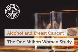 A cup of alcohol. Studies show even a small amount of wine can raise the woman's risk of developing breast cancer later on.