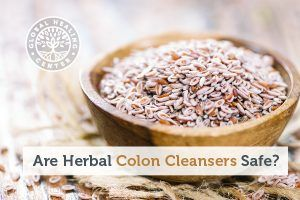 A bowl of psyllium seeds. Herbal colon cleansers are becoming increasingly popular but not all of them are safe for you.