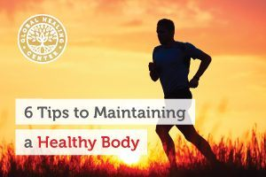 An individual is running. Eating well and eating appropriate portion is an excellent way of maintaining a healthy body.