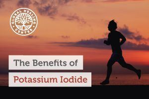 An individual is running. Potassium iodide acts as a potent treatment and remedy mechanism for both forms of thyroid disorder.