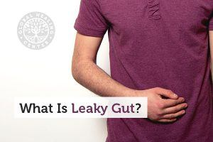 A person dealing with leaky gut syndrome.